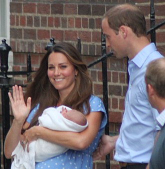 Catherine, Duchess of Cambridge - William and Catherine with their first son the day after his birth (2013)