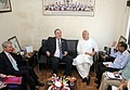 The First Minister of Scotland, Mr. Alex Salmond MSP along with a delegation called on the Union Minister for New and Renewable Energy, Dr. Farooq Abdullah, in New Delhi on October 14, 2010.jpg