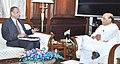 The Governor of Andhra Pradesh and Telangana, Shri E.S.L. Narasimhan calling on the Union Home Minister, Shri Rajnath Singh, in New Delhi on October 05, 2015.jpg