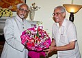 The Governor of Gujarat, Shri O.P. Kohli calls on the Vice President, Shri Mohd. Hamid Ansari, in New Delhi on July 22, 2014.jpg