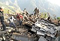 The Indian Army involved in the rescue operation, at Barpak, in Nepal on May 01, 2015.jpg