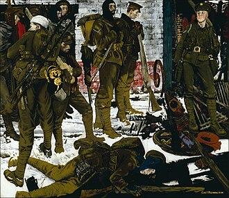 Eric Kennington - The Kensingtons at Laventie (1915) (Art.IWM ART 15661)