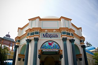 The Little Mermaid: Ariels Undersea Adventure dark ride attraction based on the film The Little Mermaid