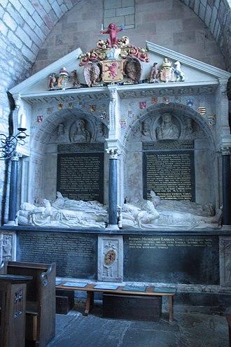 James Maitland, 8th Earl of Lauderdale - The Maitland tomb, St Mary's Church, Haddington