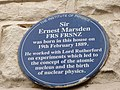 The Marsden blue plaque, awarded by the Institute of Physics.jpg