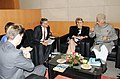 The Minister for Enterprise and Energy, Sweden Ms. Maud Olofsson calls on the Union Minister for New and Renewable Energy, Dr. Farooq Abdullah, in Greater Noida (U.P.) on October 27, 2010.jpg