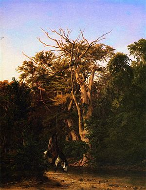 Pinta Trail (Texas) - The Old Pinta Crossing on the Guadalupe painted in 1857 by Hermann Lungkwitz