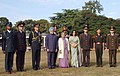 The Prime Minister, Dr. Manmohan Singh and his wife, Smt. Gursharan Kaur during the Passing Out Parade at the Platinum Jubilee Course of Indian Military Academy, in Dehradun, on December 10, 2007.jpg