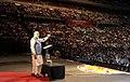 The Prime Minister, Shri Narendra Modi addressing the gathering in the Community Reception, at Allphones Arena, in Sydney, Australia on November 17, 2014 (4).jpg