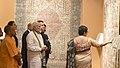 The Prime Minister, Shri Narendra Modi and the President of the French Republic, Mr. Emmanuel Macron visiting Deen Dayal Hastkala Sankul, at Varanasi, Uttar Pradesh.jpg