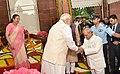 The Prime Minister, Shri Narendra Modi at the farewell ceremony of the President, Shri Pranab Mukherjee, at Central Hall of the Parliament, in New Delhi (1).jpg