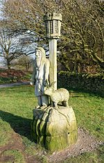 The Shepherd and the Ram by Peter Leadbeater, Beacon Hill, Leicestershire.jpg