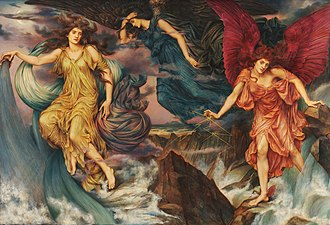 Evelyn De Morgan - The Storm Spirits, c. 1900, the De Morgan Collection