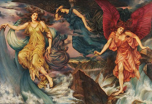 Evelyn De Morgan, The Storm Spirits, 1900, Wikimedia Commons