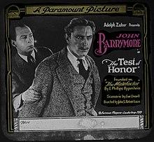 La Testo de Honoro - 1919 - lanternslide.jpg