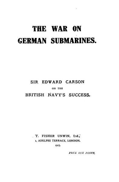 File:The War on German Submarines - Carson, 1917.djvu