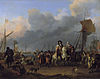 The arrival of King-Stadholder Willem III (1650- 1702) in the Oranjepolder on 31 January 1691.jpg