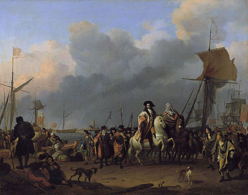 The arrival of King-Stadholder Willem III (1650- 1702) in the Oranjepolder on 31 January 1691