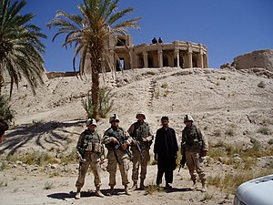 Farah Province - U.S. forces outside the Citadel of Alexander the Great near the city of Farah in 2004.