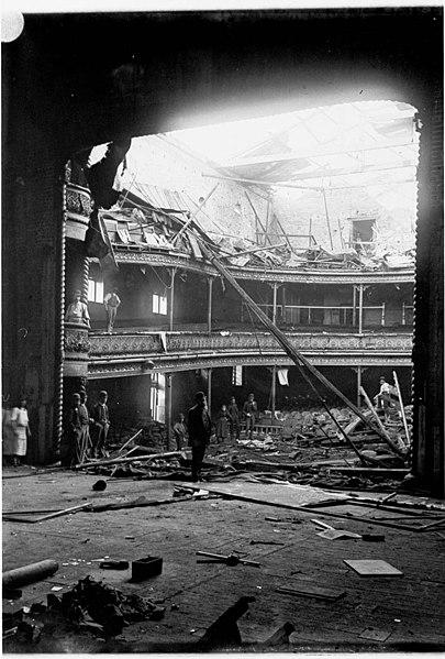 file theatre royal destroyed by fire during mrs bernard. Black Bedroom Furniture Sets. Home Design Ideas