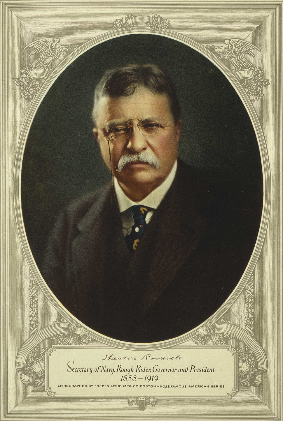 Theodore Roosevelt, color painting circa 1920-1940
