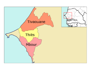 Thiès Region - Image: Thies departments big print