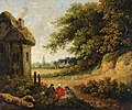 Thomas Hand - Landscape, Cottages and Figures.jpg
