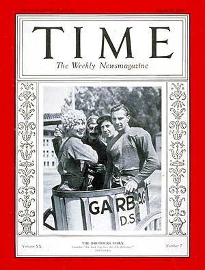 Horse Feathers - Cover of Time (August 15, 1932)
