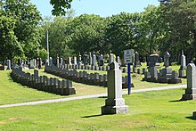 Titanic graves section