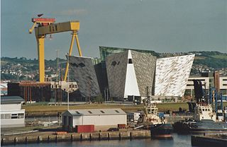 Titanic Quarter Dockland regeneration zone in Belfast