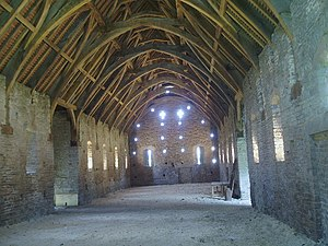 Tithe Barn, Pilton - Interior of the barn
