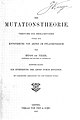 "Title page; Vries ""Die Mutationstheorie"", 1901 Wellcome L0000525.jpg"