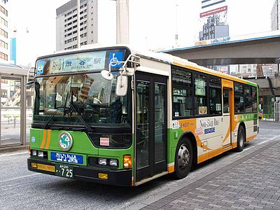 Toei buses like this operate most of Tokyo's local bus routes