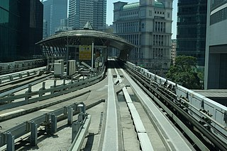 Shiodome Station Railway and metro station in Tokyo, Japan