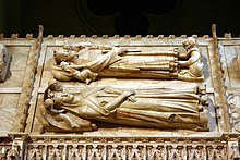 Tombs of Peter IV of Aragon and Eleanor of Sicily - Monastery of Poblet - Catalonia 2014.JPG