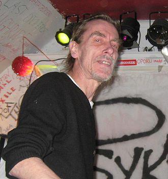 Tompa Eken - Tompa Eken on stage with Psykbryt in April 2010.