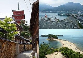 Tonoshō, Kagawa Town in Shikoku, Japan