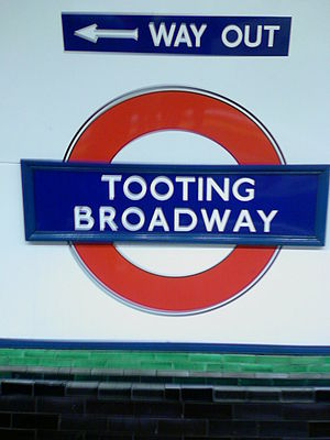 Tooting - Tooting Broadway tube sign