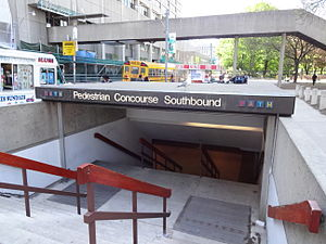 Underground city - PATH entrance, Toronto, Ontario.
