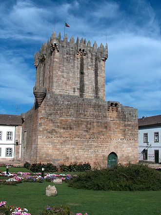 Chaves, Portugal - The remnants of ancient Keep of the Castle of Chaves