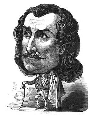 Étienne Mélingue - Portrait of Étienne Mélingue published in Le Trombinscope, by Touchatout, in 1872