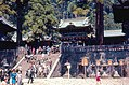 Tourists near stone stairs, Nikkō Tōshō-gū (1967-05-06 by Roger W).jpg