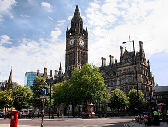 Outline of the United Kingdom - Manchester Town Hall, a centre of local government