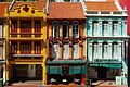 Traditional shophouses in Upper Cross Street, Chinatown, Singapore (17161367876).jpg
