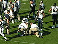 Trainers attend to injured player at Rams at 49ers 11-16-08.JPG