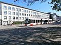 Tram 502 at TU Narva mnt 25 Tallinn 22 May 2015.JPG