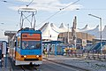 Tram in Sofia in front of Central Railway Station 2012 PD 087.jpg
