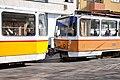 Tram in Sofia near Central mineral bath 2012 PD 047.jpg