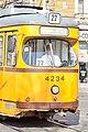 Tram in Sofia near Central mineral bath 2012 PD 057.jpg
