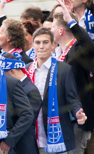 Trent Sainsbury - Sainsbury after PEC Zwolle won the 2013–14 KNVB Cup.
